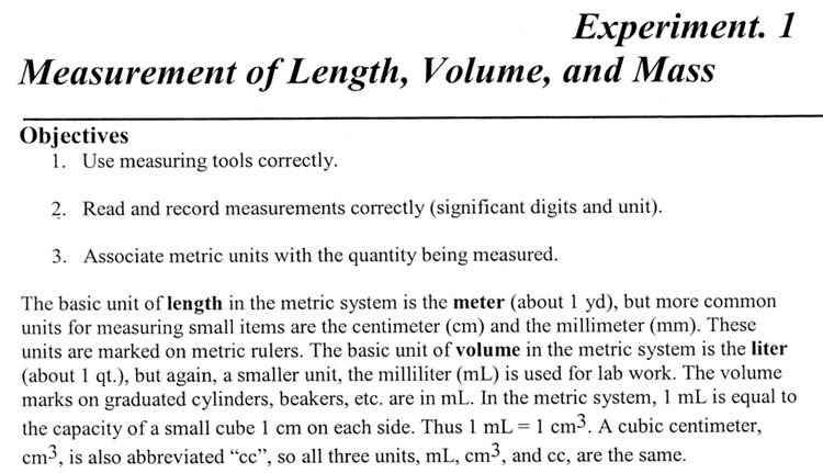 Lab report accurate measurement of mass