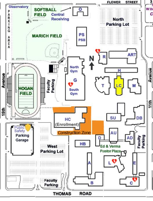 Phoenix College Map
