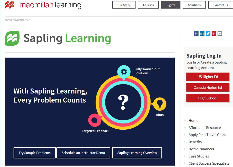 sapling online homework